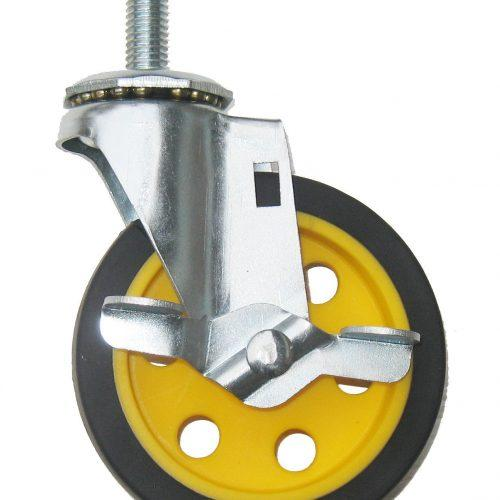 """Caster with Brake 4""""x1"""" (for R2 & R6)"""