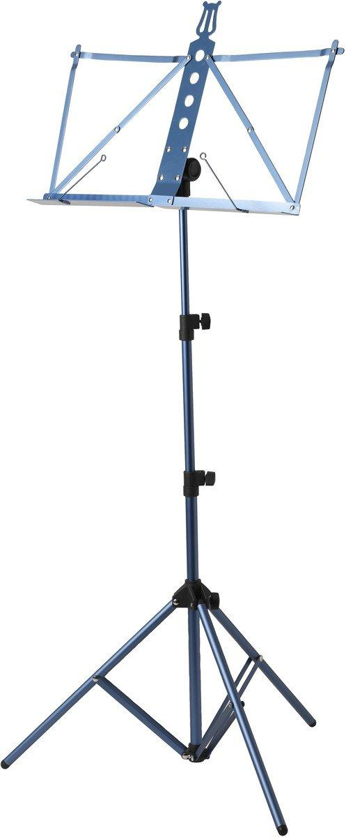Deluxe Aluminum Music Stand w/Adjustable Tray - Blue