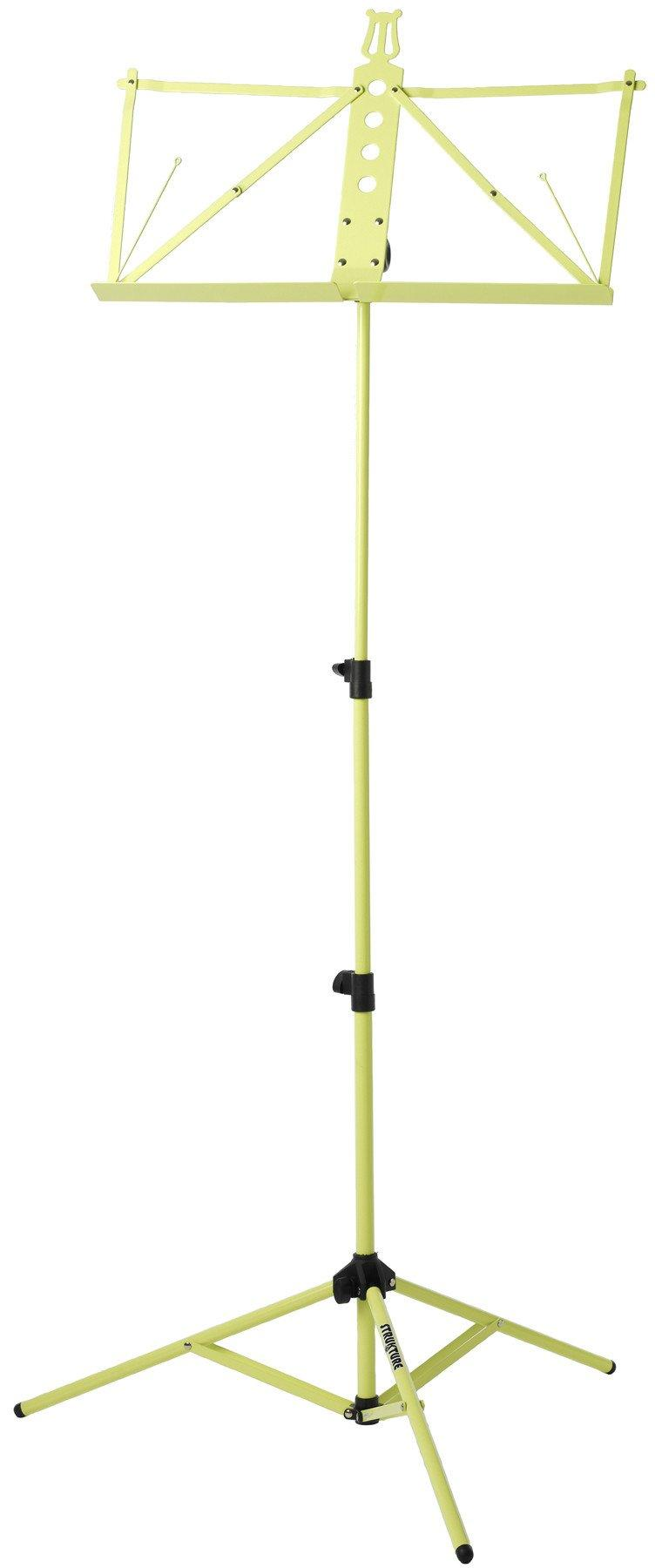 Deluxe Aluminum Music Stand w/Adjustable Tray - Lime Green