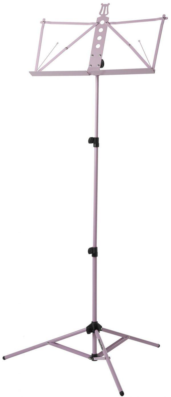 Deluxe Aluminum Music Stand w/Adjustable Tray - Pink