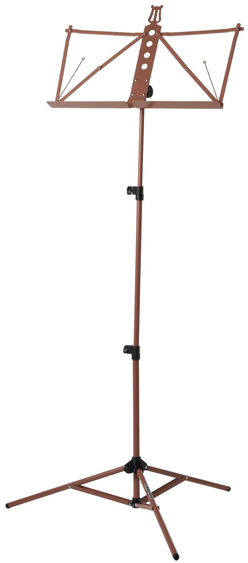 Deluxe Aluminum Music Stand w/Adjustable Tray - Red