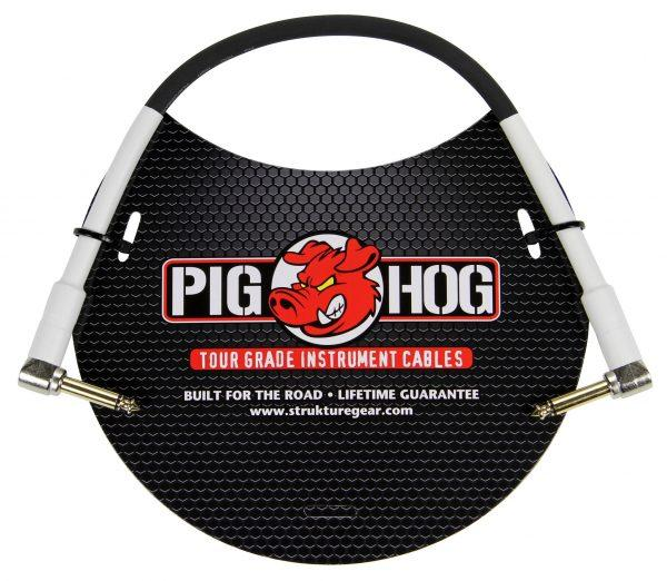"""Pig Hog 1ft 1/4"""" Right angle - 1/4"""" Right  angle  8mm Inst. Cable"""
