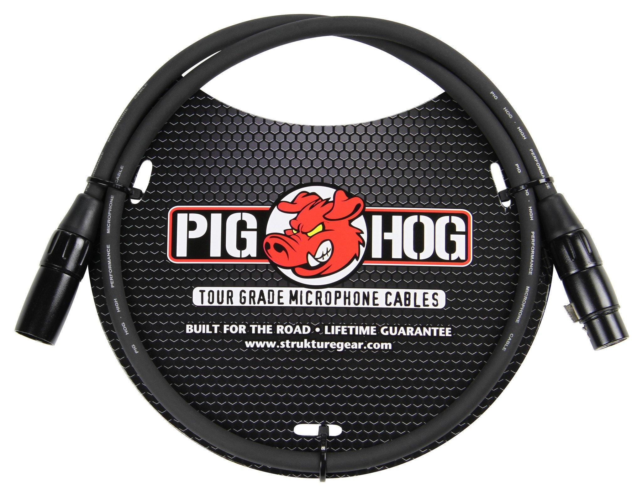 Pig Hog 8mm Mic Cable, 3ft XLR