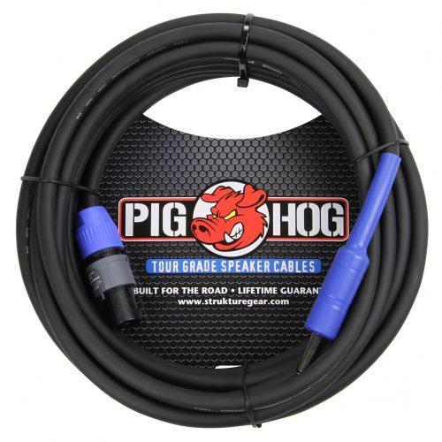 """Pig Hog 25ft Speaker Cable, SPKON to 1/4"""""""