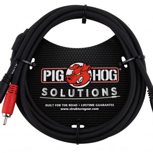 Pig Hog Solutions - 6ft Stereo Breakout Cable, 3.5mm to Dual RCA