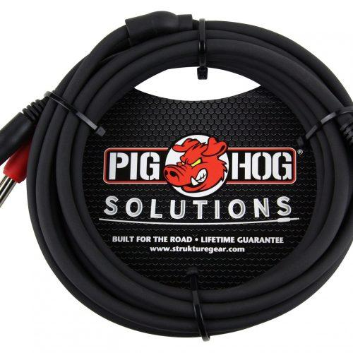 """Pig Hog Solutions - 10ft Stereo Breakout Cable, 3.5mm to Dual 1/4"""""""