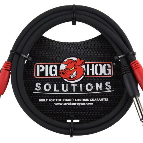 """Pig Hog Solutions - 3ft 1/4""""-1/4"""" Dual Cable"""