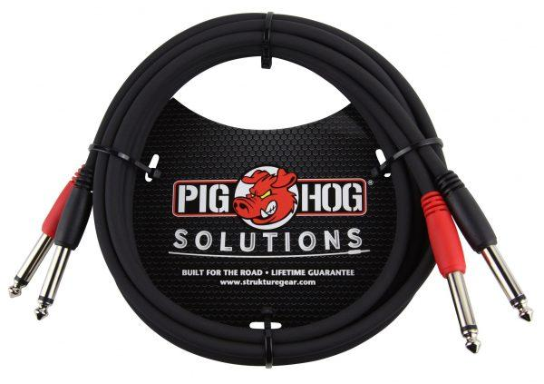 """Pig Hog Solutions - 6ft 1/4""""-1/4"""" Dual Cable"""