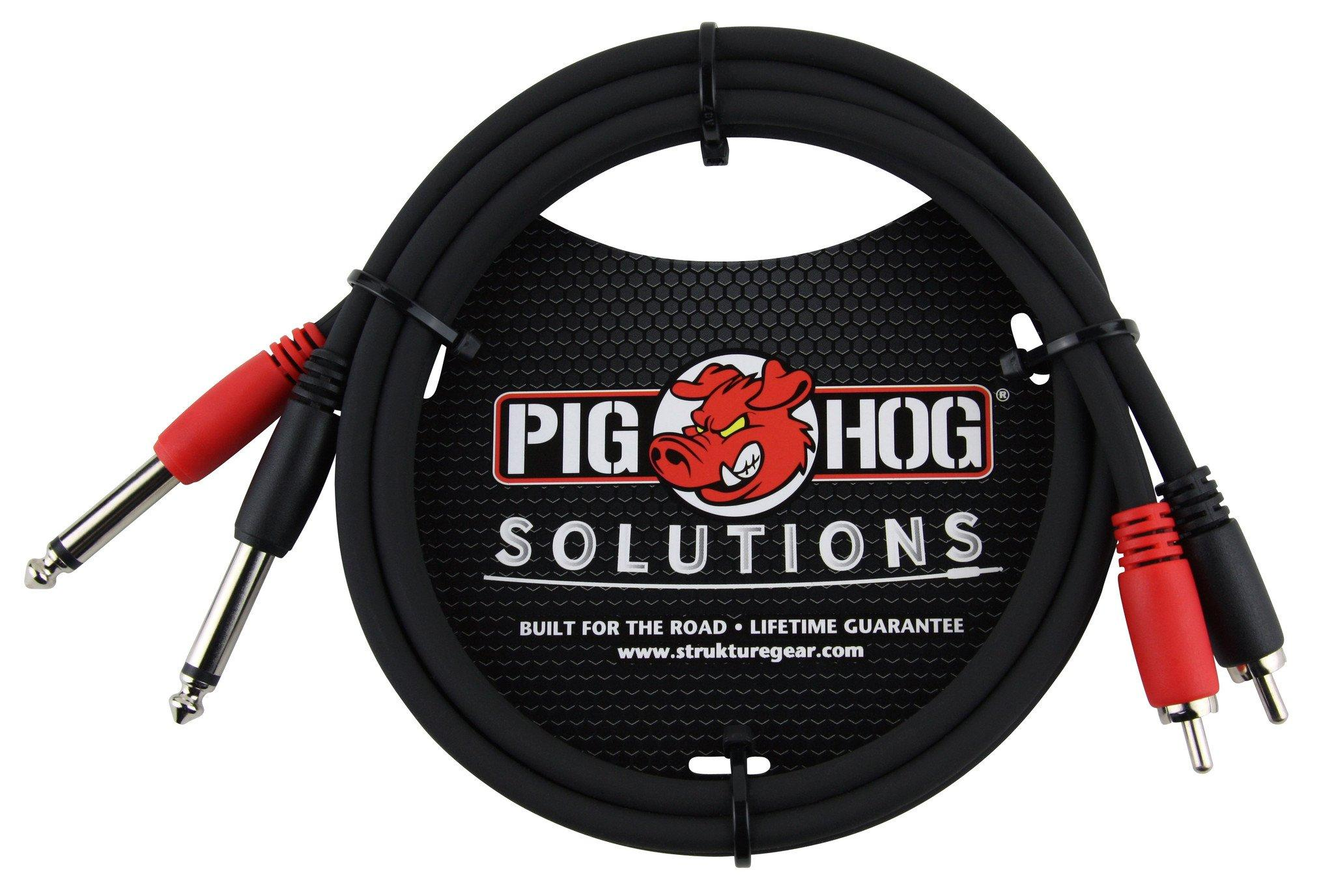 """Pig Hog Solutions - 3ft RCA-1/4"""" Dual Cable"""