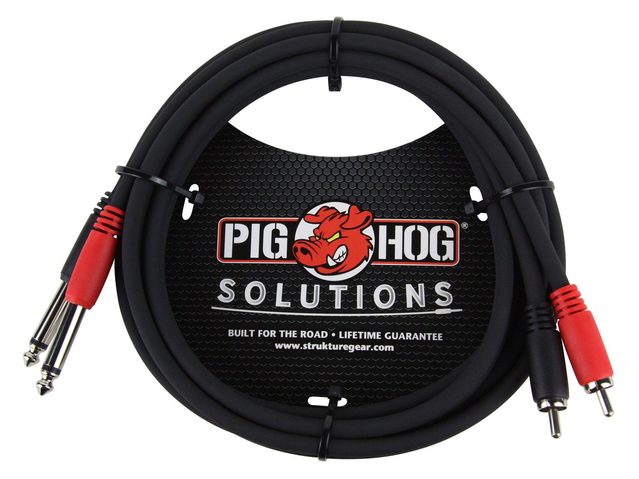 """Pig Hog Solutions - 6ft RCA-1/4"""" Dual Cable"""
