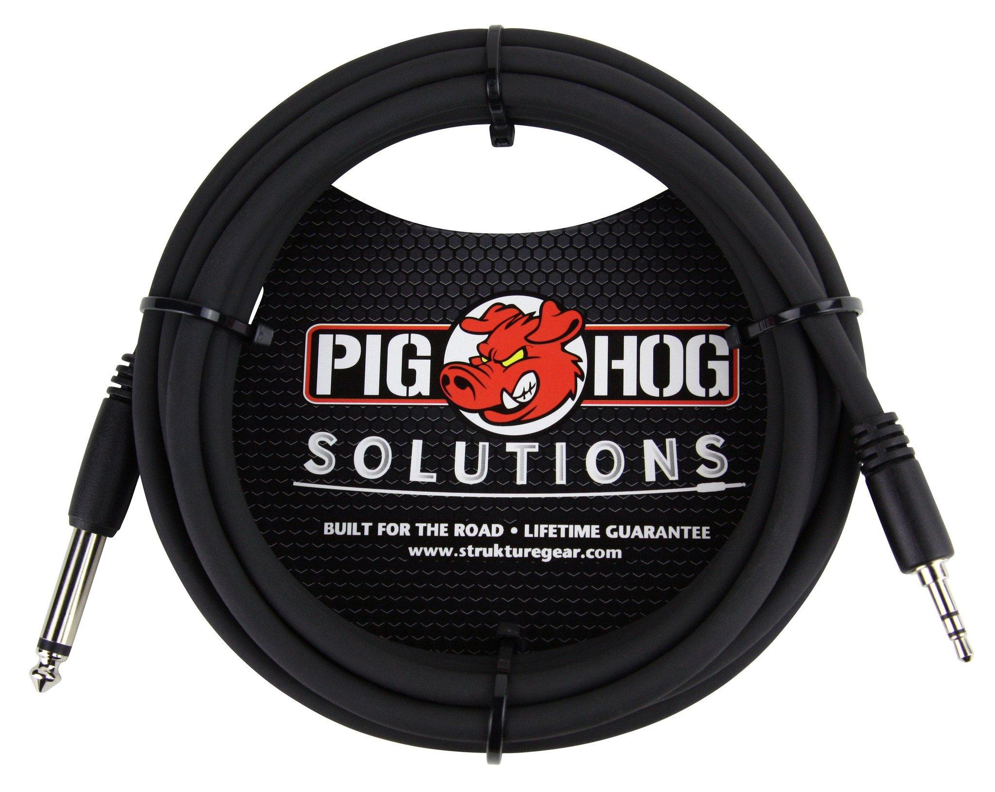 """Pig Hog Solutions - 10ft 3.5mm TRS to 1/4"""" Mono"""