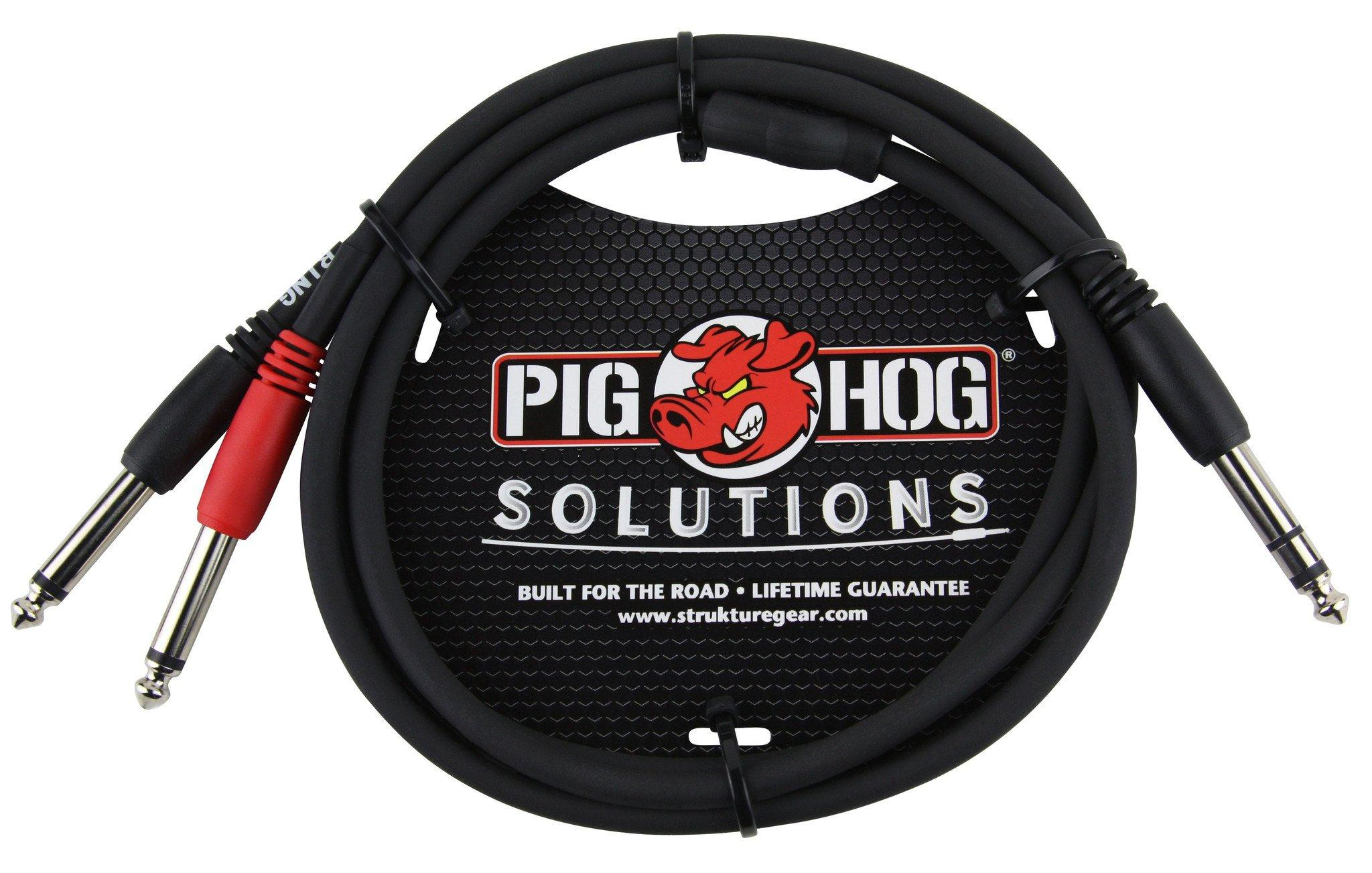 """Pig Hog Solutions - 3ft TRS(M)-Dual 1/4"""" Insert Cable"""