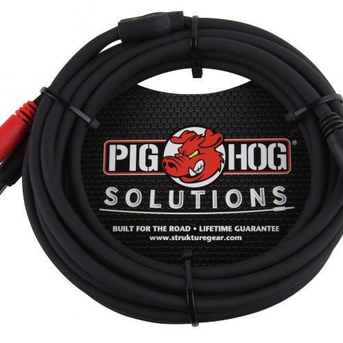 """Pig Hog Solutions - 10ft TRS(M)-Dual 1/4"""" Insert Cable"""