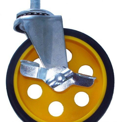 """Caster with Brake 5""""x1.25"""" (for R8 & R10)"""