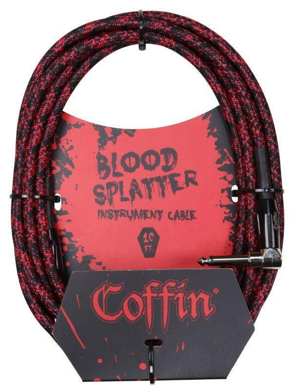 Bloodsplatter Instrument Cable 10ft. Right Angle