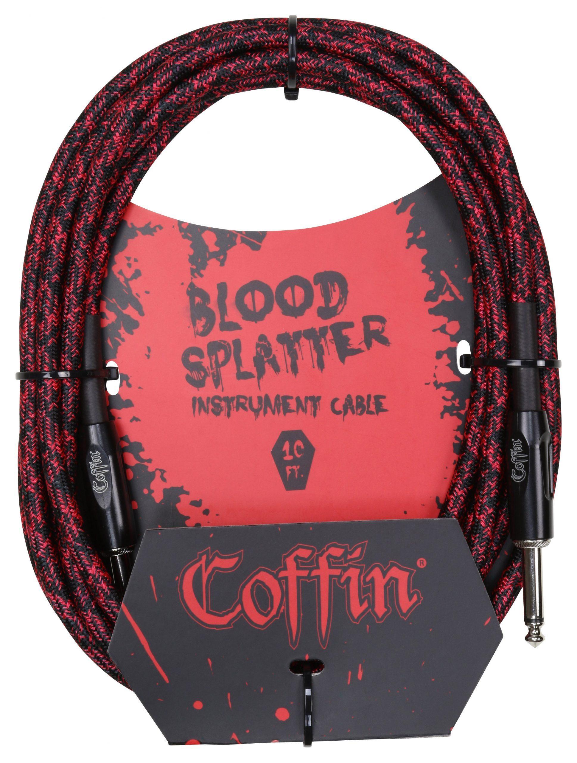 Bloodsplatter Instrument Cable 10ft. Straight