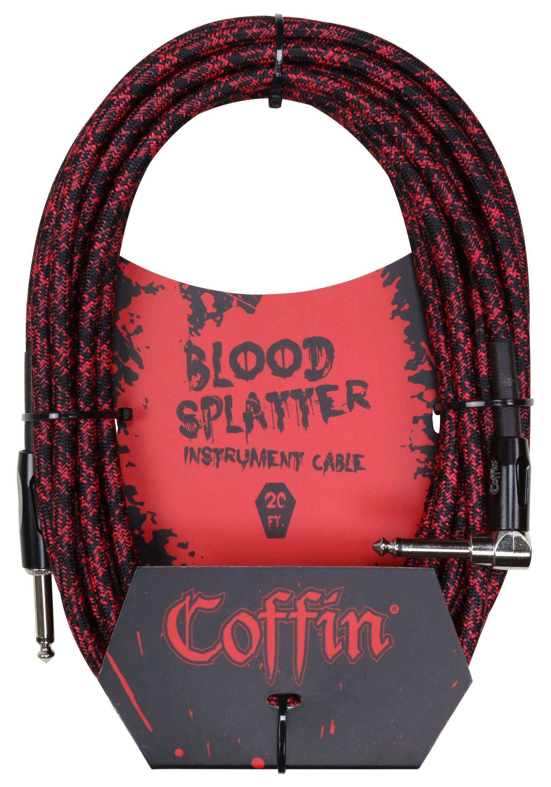 Bloodsplatter Instrument Cable 20ft. Right Angle