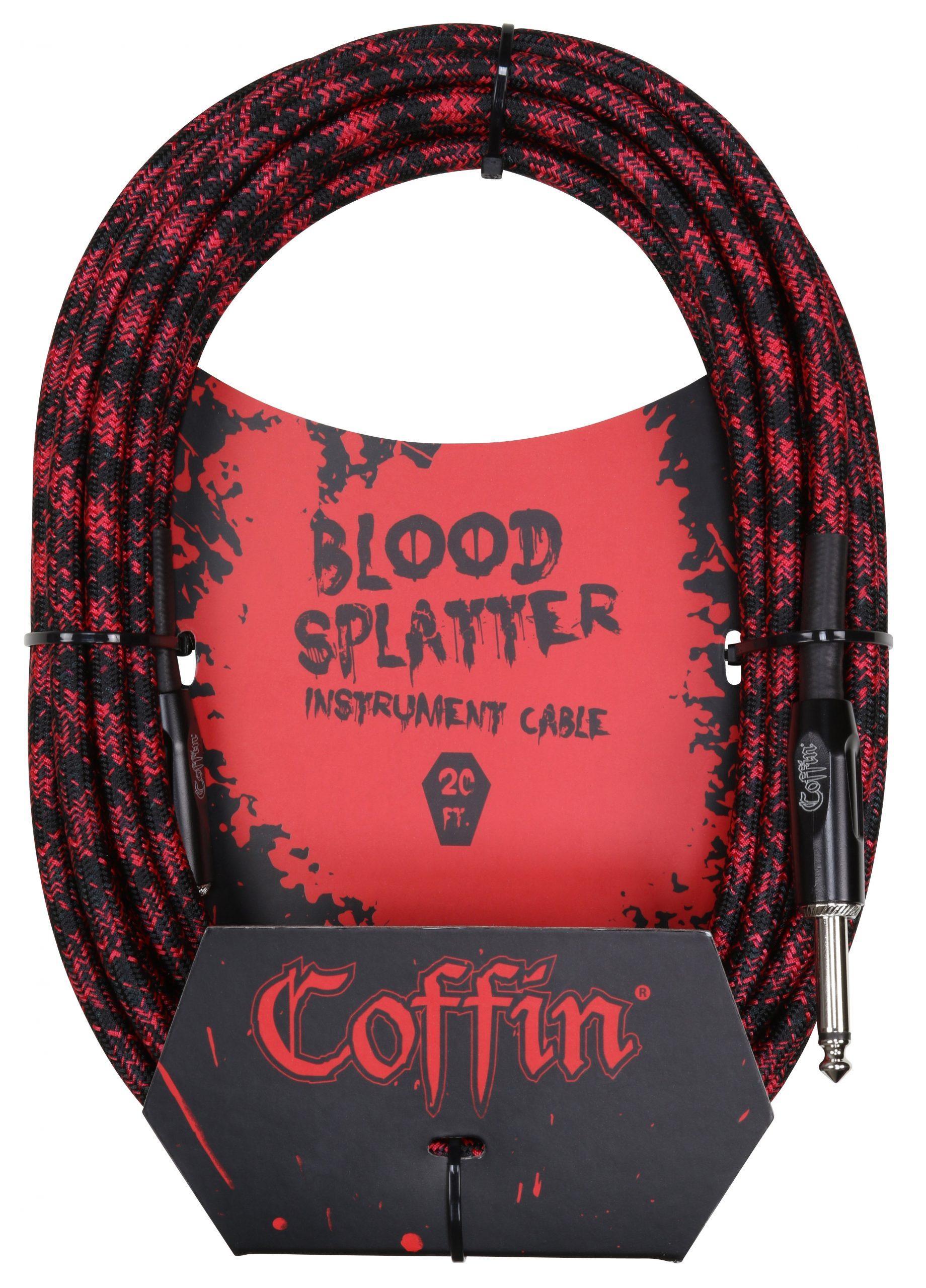 Bloodsplatter Instrument Cable 20ft. Straight