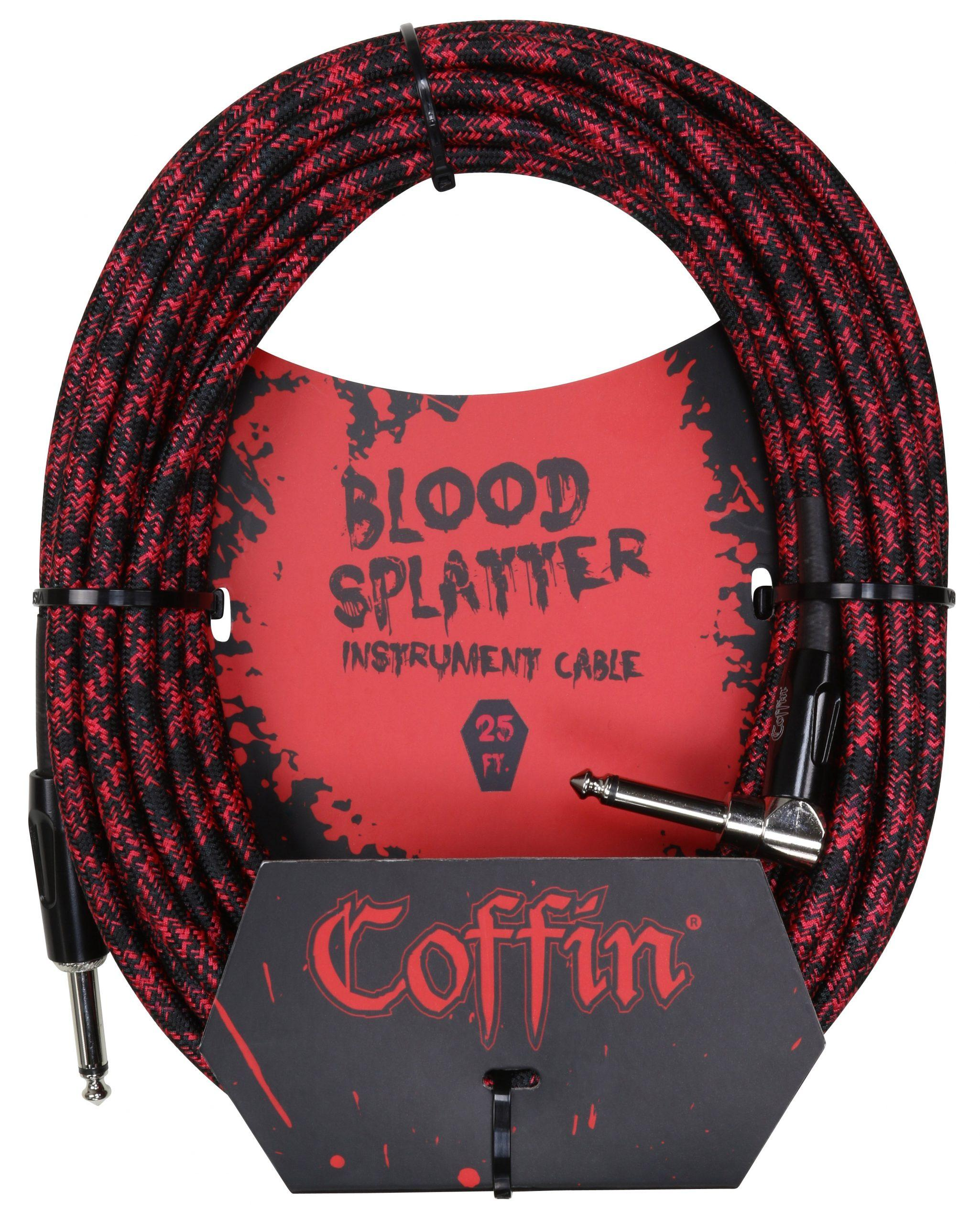 Bloodsplatter Instrument Cable 25ft. Right Angle
