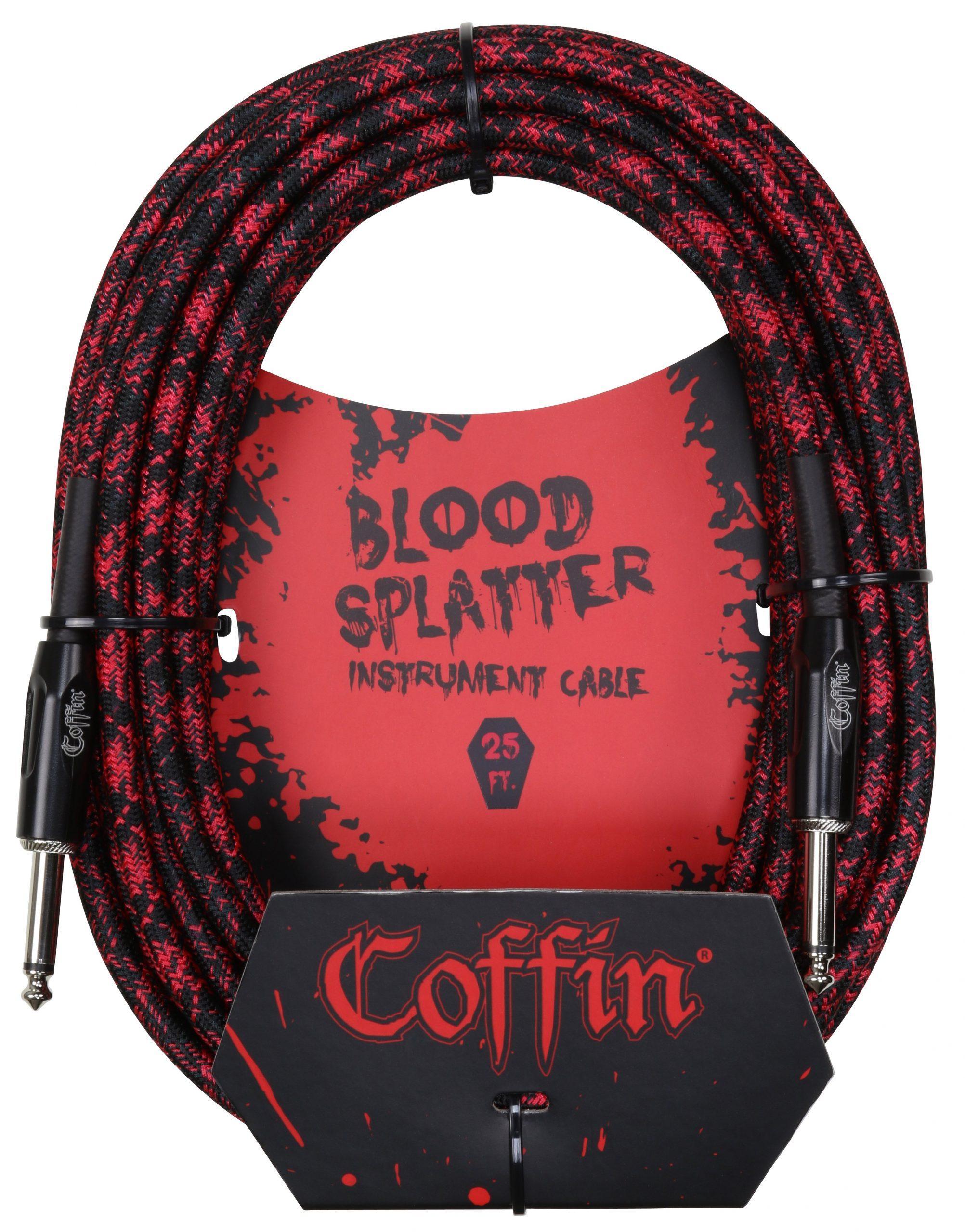 Bloodsplatter Instrument Cable 25ft. Straight