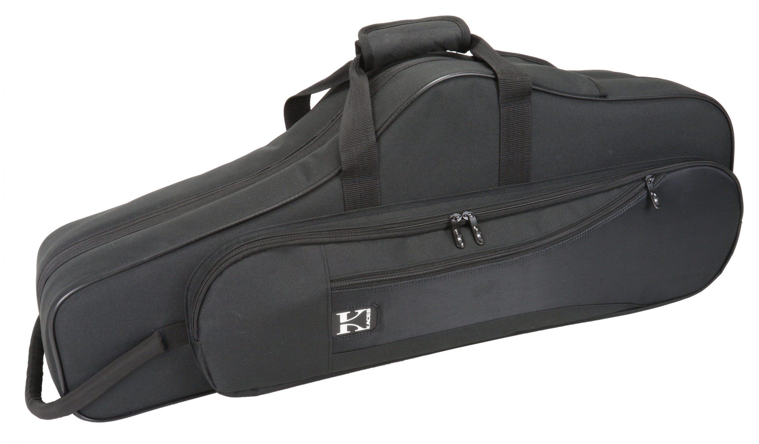 Kaces Lightweight Hardshell Tenor Sax Case, Black