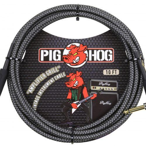 """Pig Hog """"Amp Grill"""" Instrument Cable, 10ft Right Angle"""