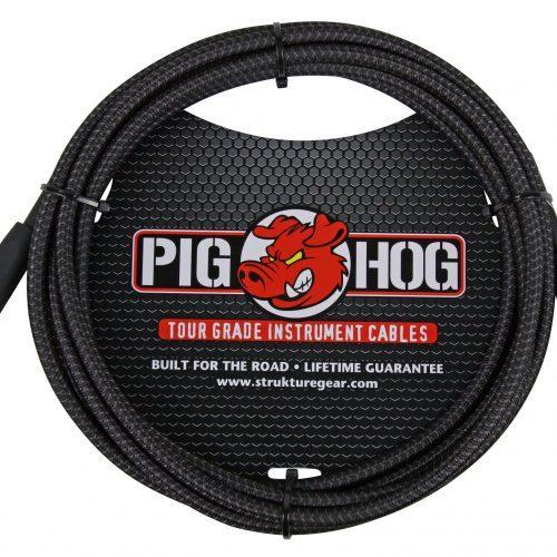 "Pig Hog ""Black Woven"" Instrument Cable, 10ft"