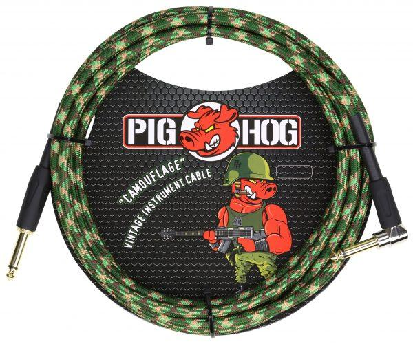 """Pig Hog """"Camouflage"""" Instrument Cable, 10ft Right Angle"""