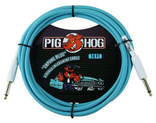 """Pig Hog """"Daphne Blue"""" Instrument Cable, 10ft"""
