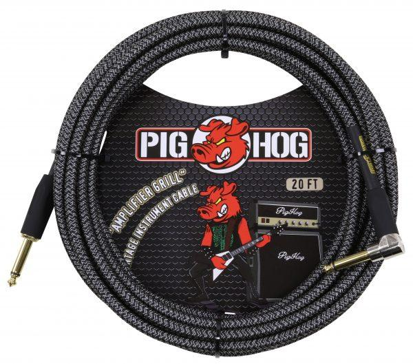 """Pig Hog """"Amp Grill"""" Instrument Cable, 20ft Right Angle"""