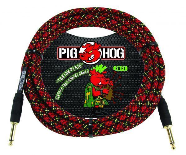 "Pig Hog ""Tartan Plaid"" Instrument Cable, 10ft"