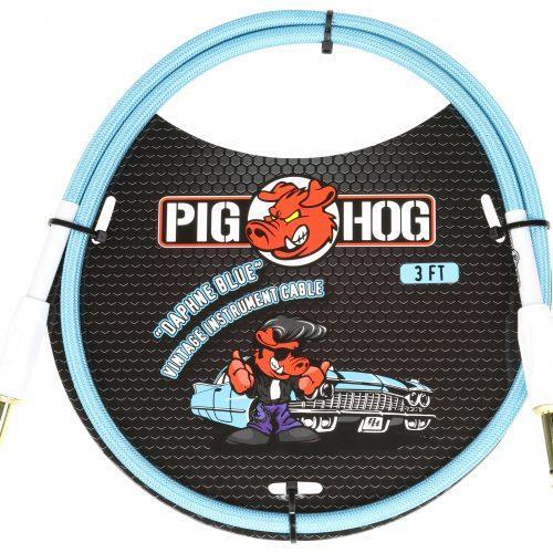 """Pig Hog """"Daphne Blue"""" 3ft Patch Cables"""
