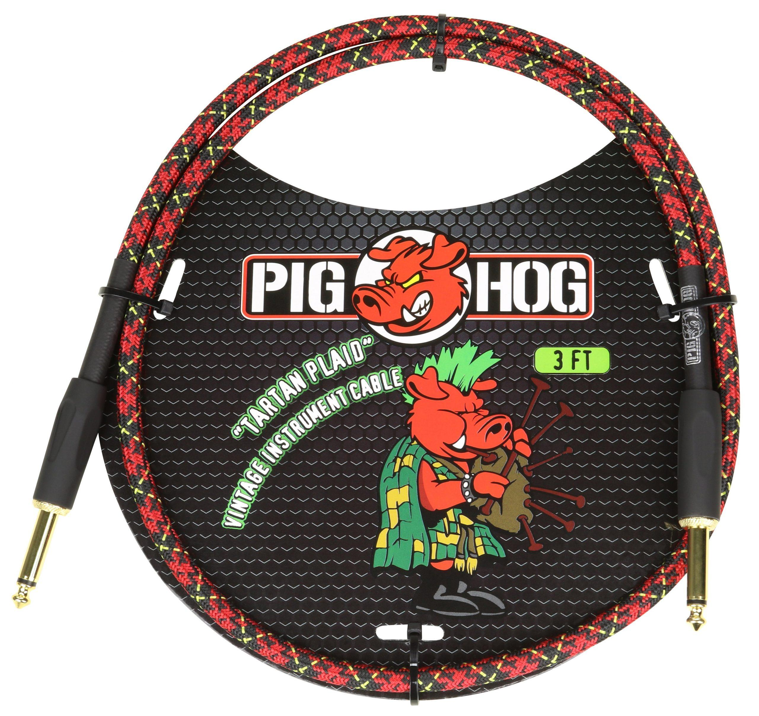"""Pig Hog """"Tartan Plaid"""" 3ft Patch Cables"""
