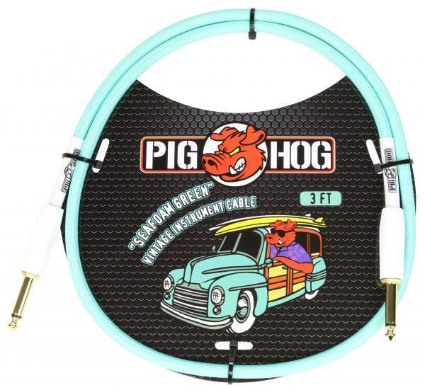 "Pig Hog ""Seafoam Green"" 3ft Patch Cables"