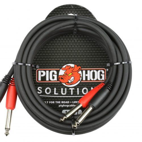 """Pig Hog Solutions - 10ft 1/4""""-1/4"""" Dual Cable"""