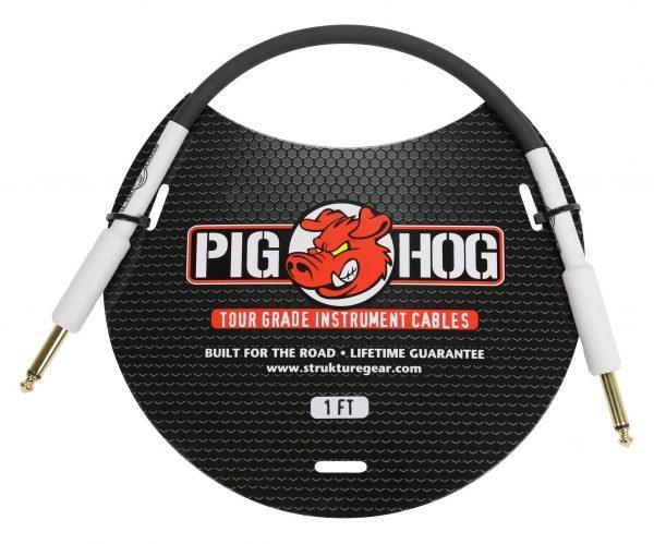 """Pig Hog 1ft 1/4"""" - 1/4"""" 8mm Inst. Cable"""