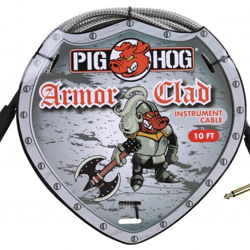 """Pig Hog """"Armor Clad"""" Instrument Cable, 10ft Right Angle"""