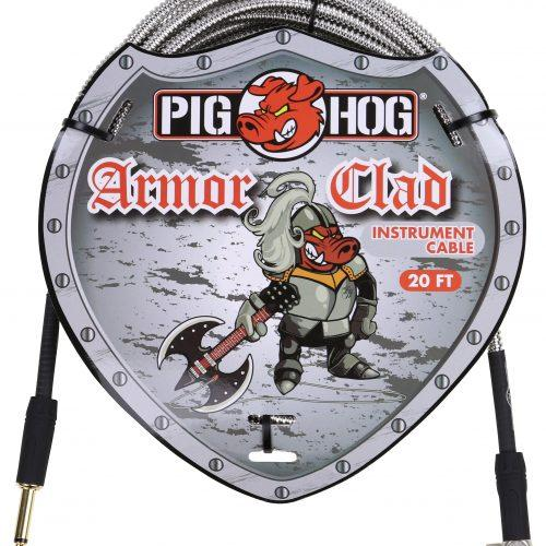 """Pig Hog """"Armor Clad"""" Instrument Cable, 20ft Right Angle"""