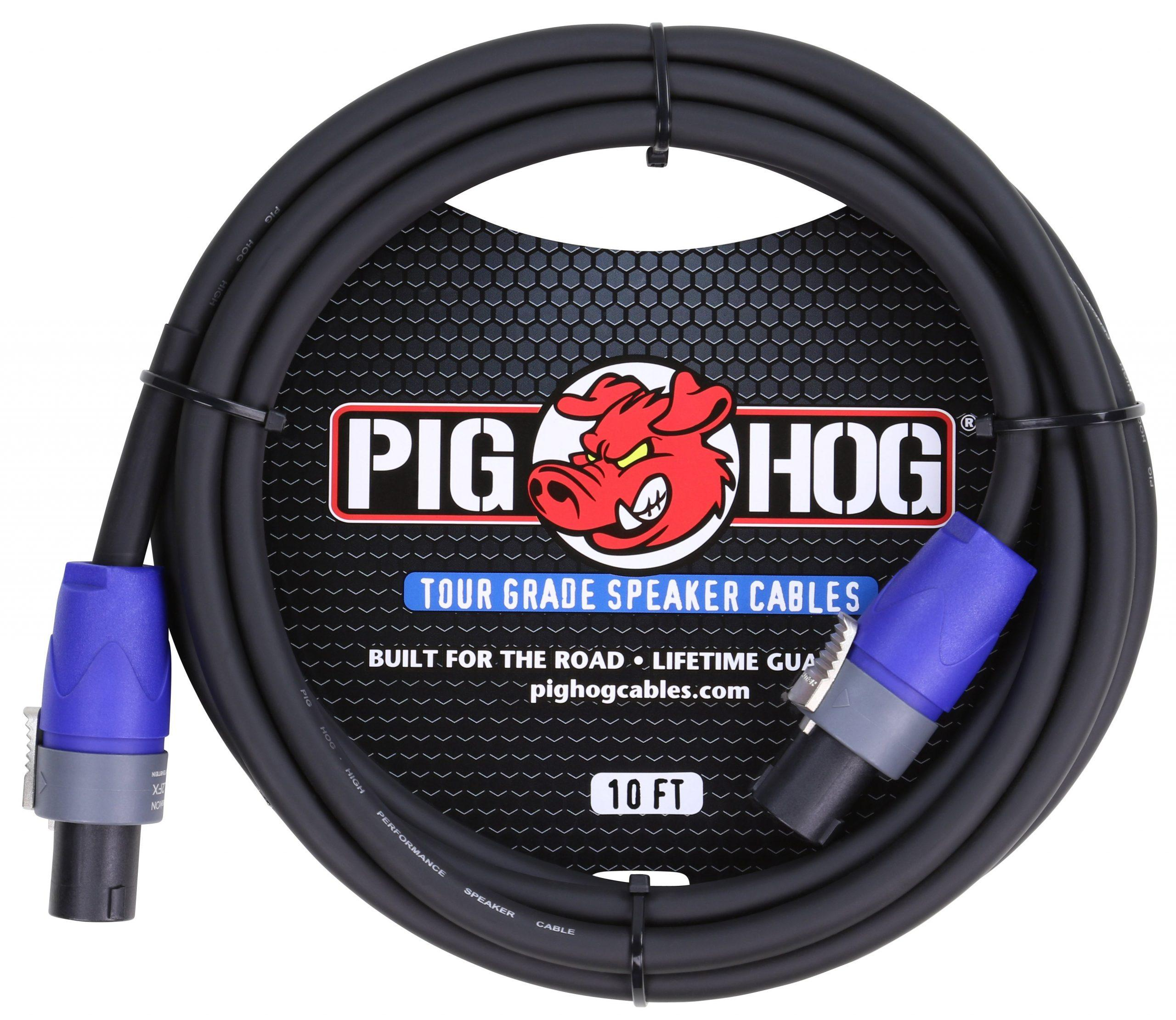 Pig Hog 10ft Speaker Cable, SPKON to SPKON