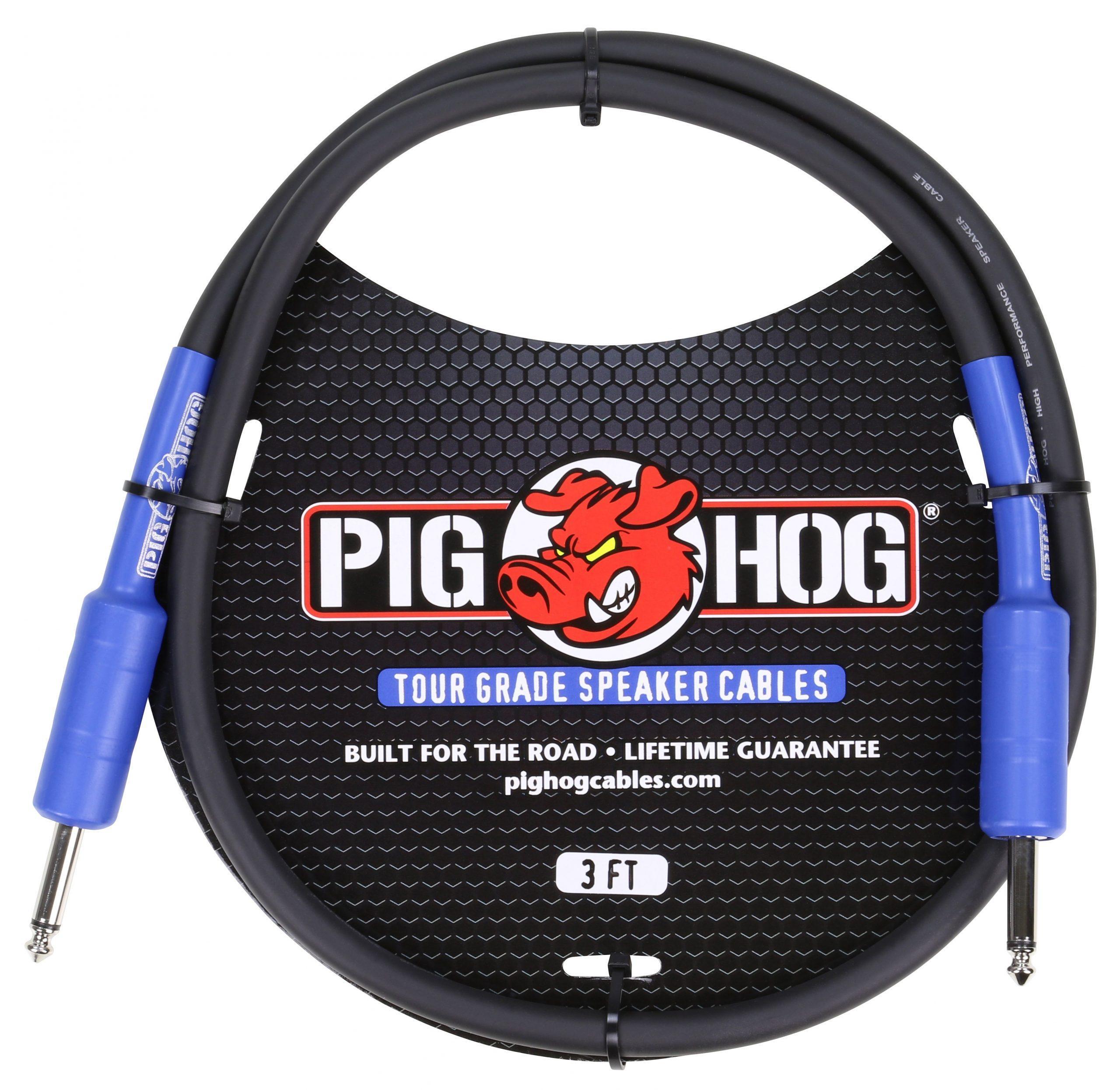 Pig Hog 9.2mm Speaker Cable, 3ft (14 gauge wire)