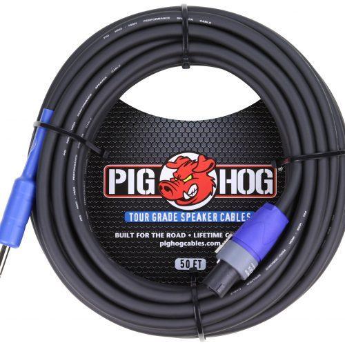 """Pig Hog 50ft Speaker Cable, SPKON to 1/4"""""""