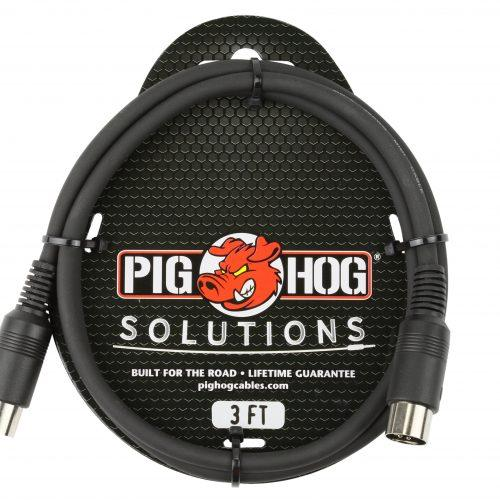 Pig Hog Solutions - 3ft MIDI Cable