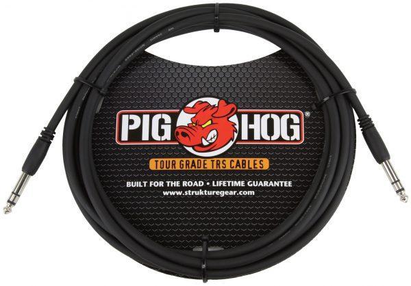 """Pig Hog 10ft 1/4"""" TRS - 1/4"""" TRS Cable"""