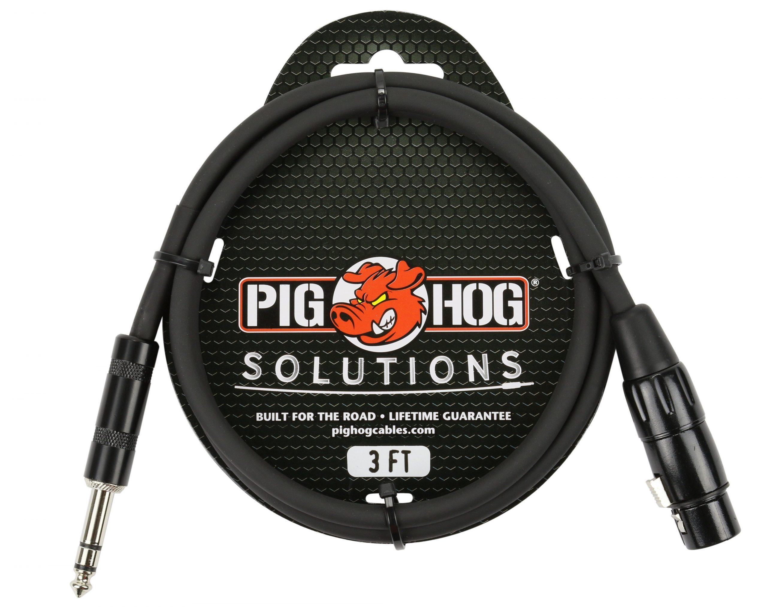 Pig Hog Solutions - 3ft TRS(M)-XLR(F) Balanced Cable