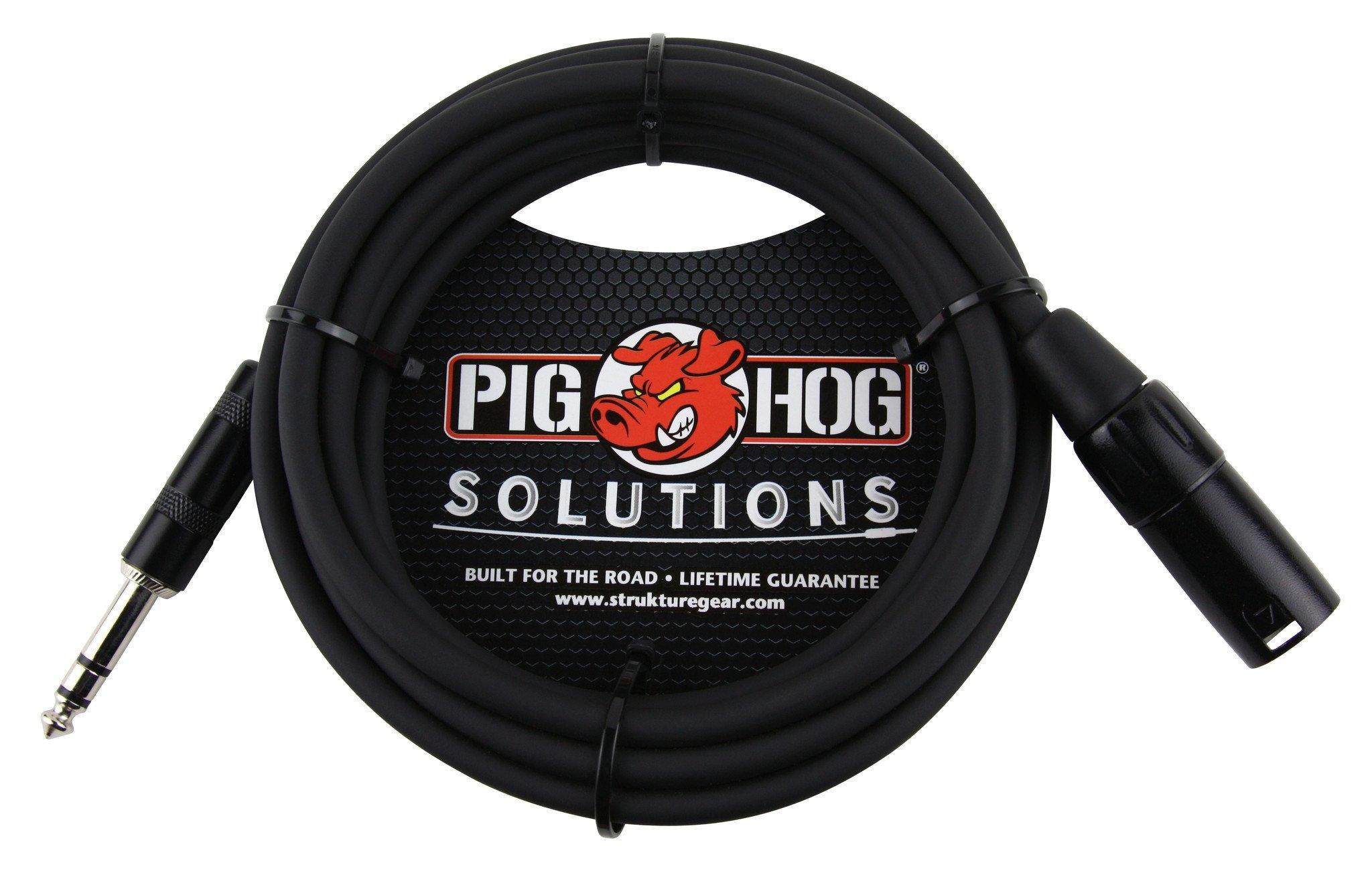Pig Hog Solutions - 25ft TRS(M)-XLR(M) Balanced Cable