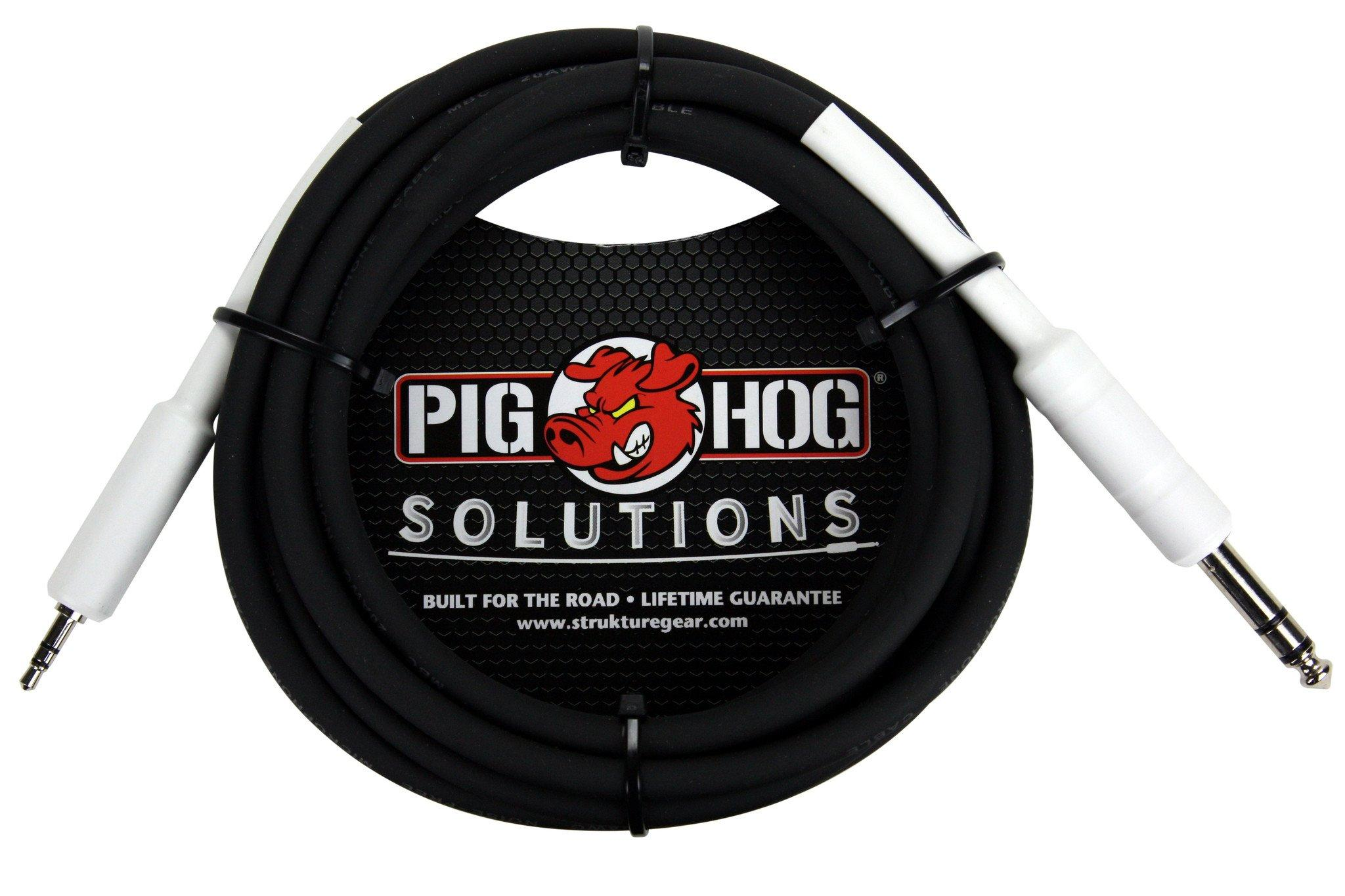 """Pig Hog Solutions - 1/4"""" TRS to 1/8"""" mini, 6ft"""