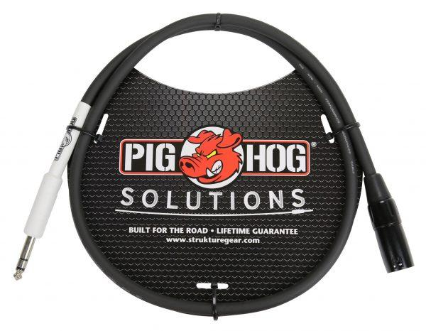 """Pig Hog Solutions - XLR male to 1/4"""" TRS, 3ft"""