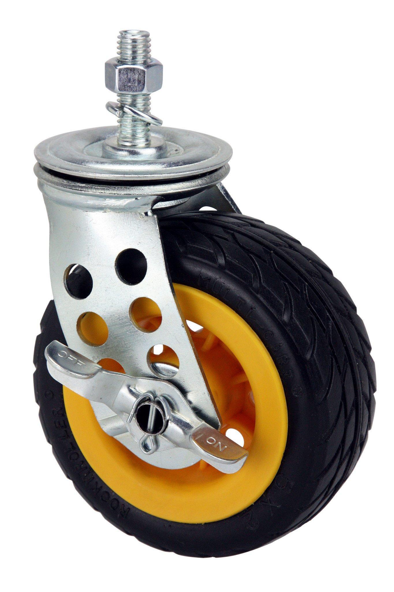 """5"""" x 2"""" Ground Glider Wide Caster w/brake (Upgrade for R8, R10)"""