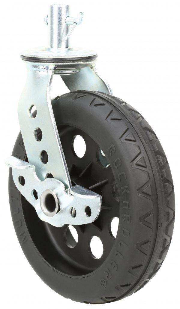 """All-Terrain Stealth Caster with Brake 8"""" x 2"""" (2-Pack for R12)"""