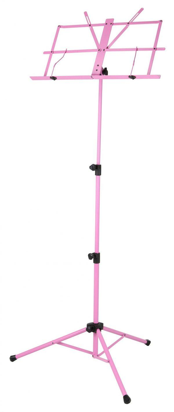 Deluxe 3-Part Folding Music Stand W/Bag - Pink